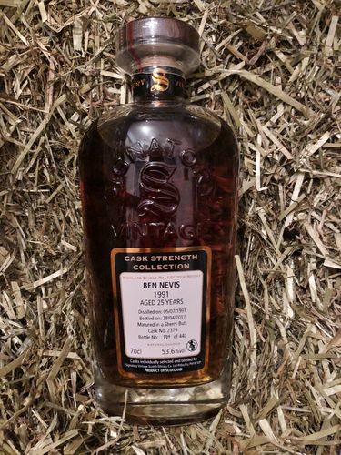 Signatory Vintage Ben Nevis 25 Years Old Cask Strength Collection 1991 53,6% Vol. 0,7 l