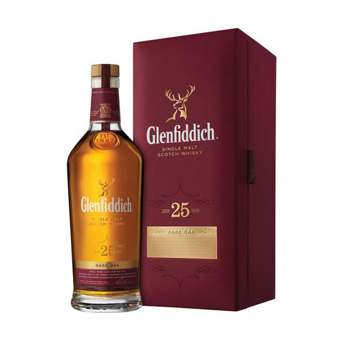 Glenfiddich 25 Years Old RARE OAK Single Malt Scotch Whisky 43% Vol. 0,7 l
