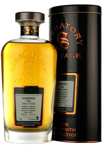 Signatory Vintage Glenburgie 23 Years Old Cask Strength Collection 1995 52,5% Vol. 0,7 l